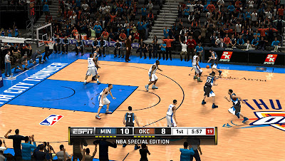 NBA 2K13 Oklahoma City Thunder Court Patch