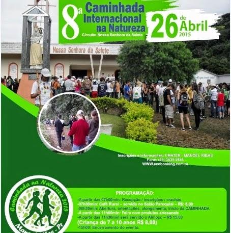 8ª Caminhada Internacional da Natureza em Manoel Ribas