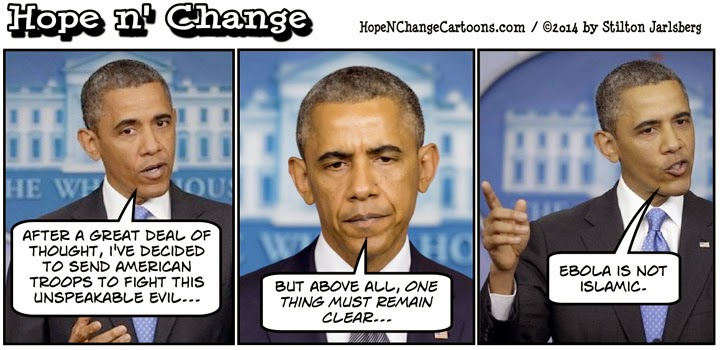 obama, obama jokes, cartoon, political, conservative, hope n' change, hope and change, stilton jarlsberg, ebola, ISIS