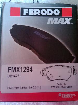 Kampas Rem Ferodo utk Chevrolet Zafira (FMX1294 / FDB1425)