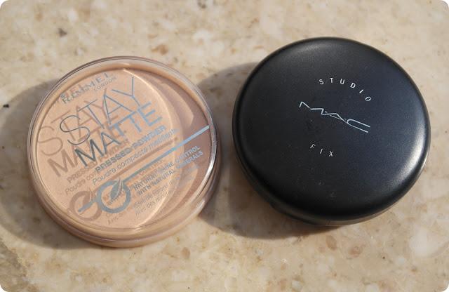 Rimmel Stay Matte Pressed Powder and MAC Studio Fix Powder Plus Foundation