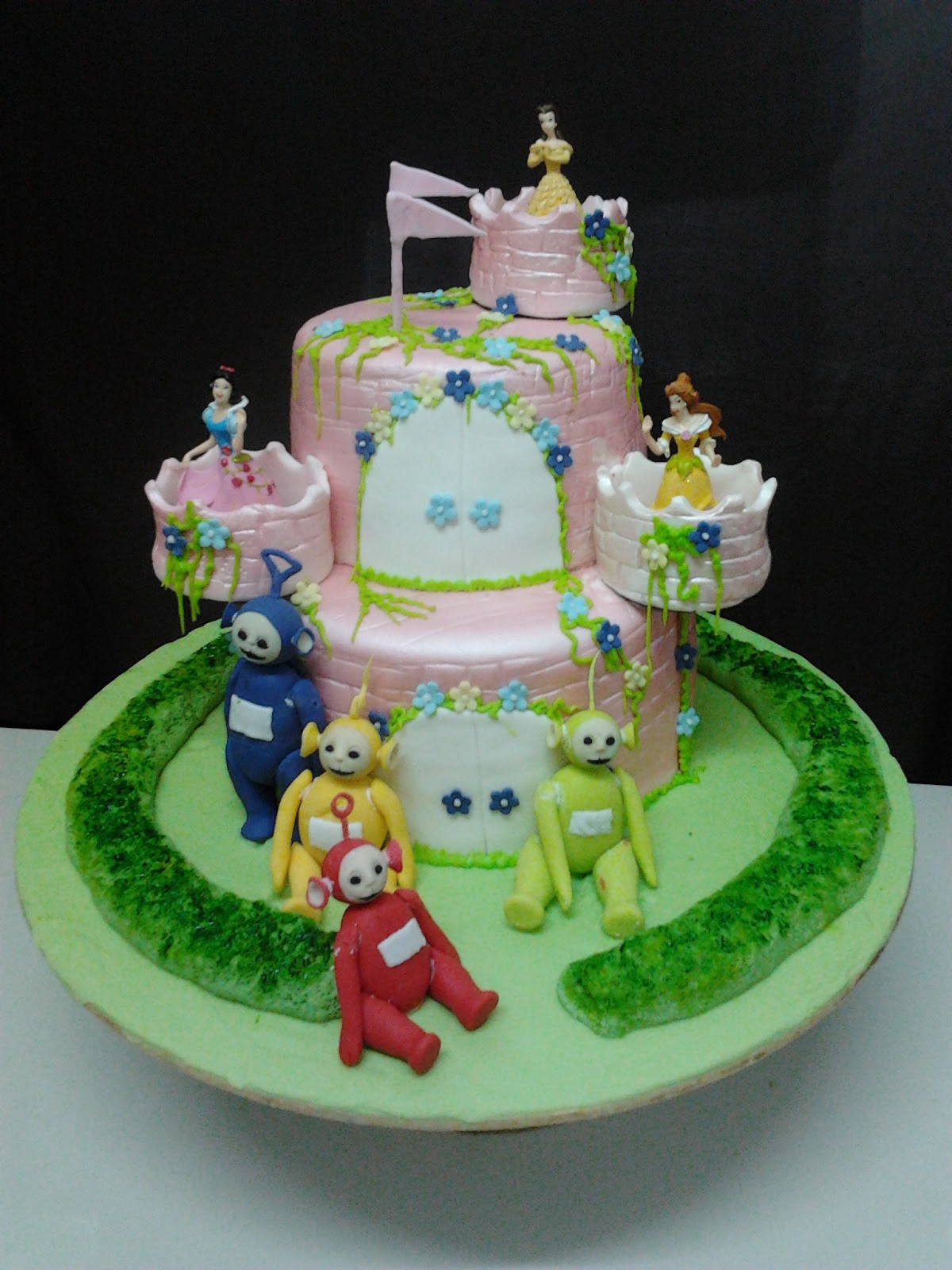 Cuppiesdeco Princess N Teletubbies Birthday Cake