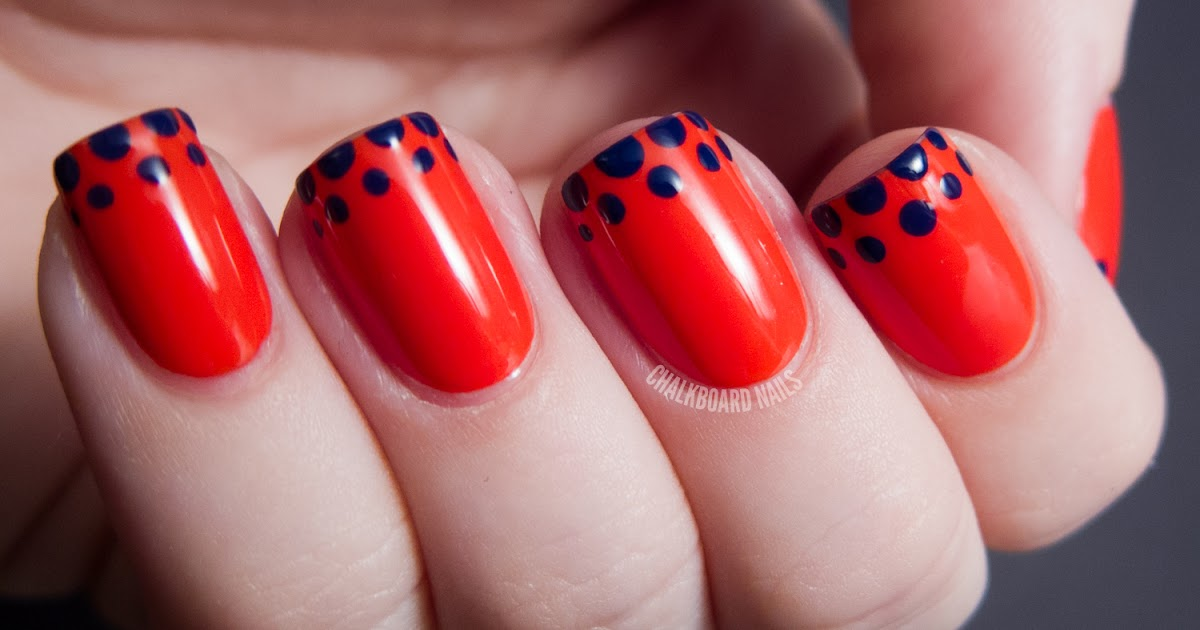 Easy Dotted French Tip OPI Euro Centrale Nail Art Chalkboard Nails ...