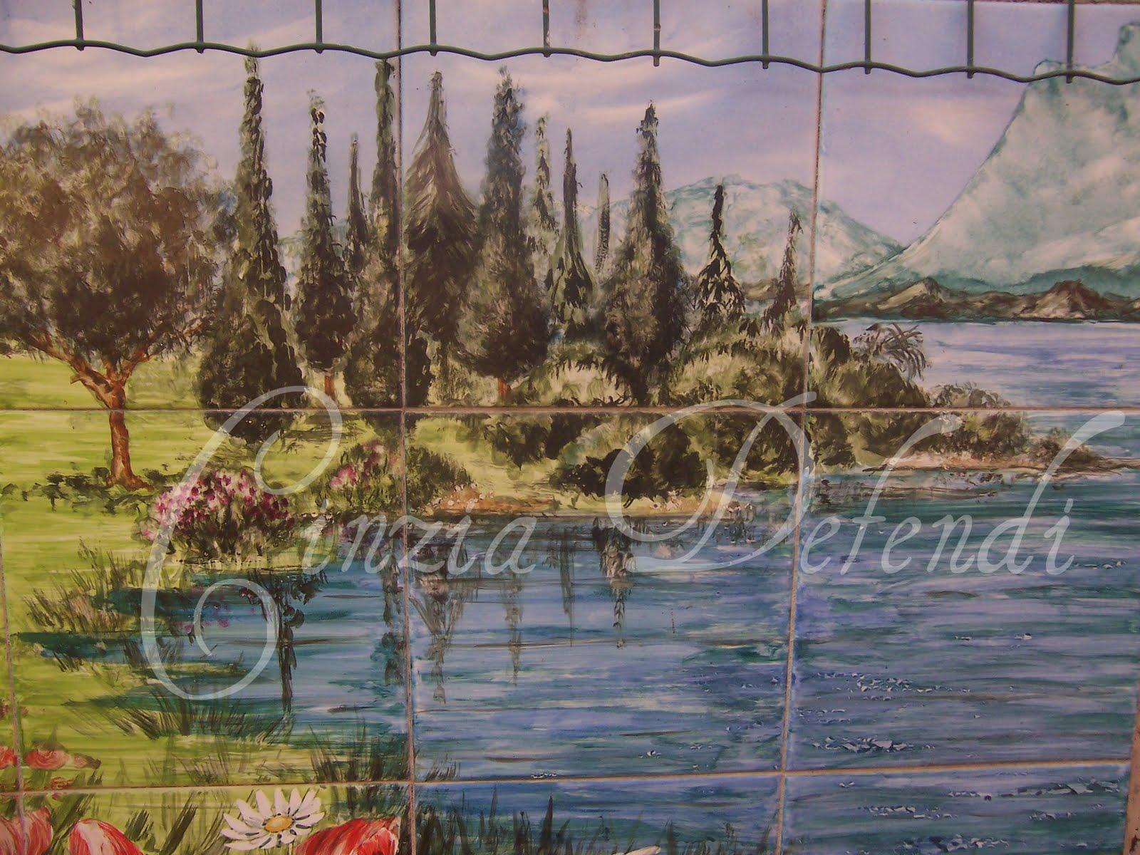 Dipinti Murali E Pittura Ad Ago : Rivestimenti per caminetti dipinti a mano