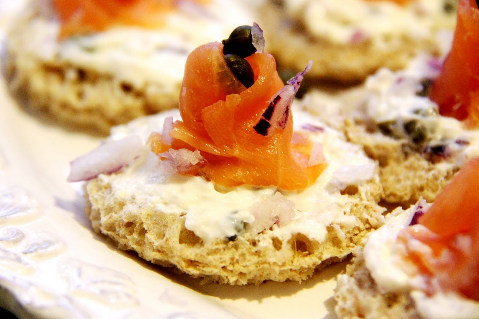 Stranded in cleveland smoked salmon canap s recipe for Smoked salmon canape