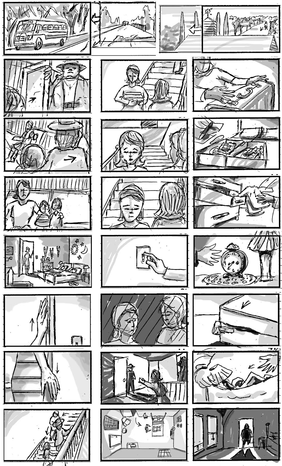 Storyboard Sample | Van Dyke S Storyboards Sketches Projects Storyboard Sample