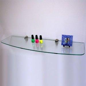 foto de prateleiras de vidros com suporte cromados newartvidros