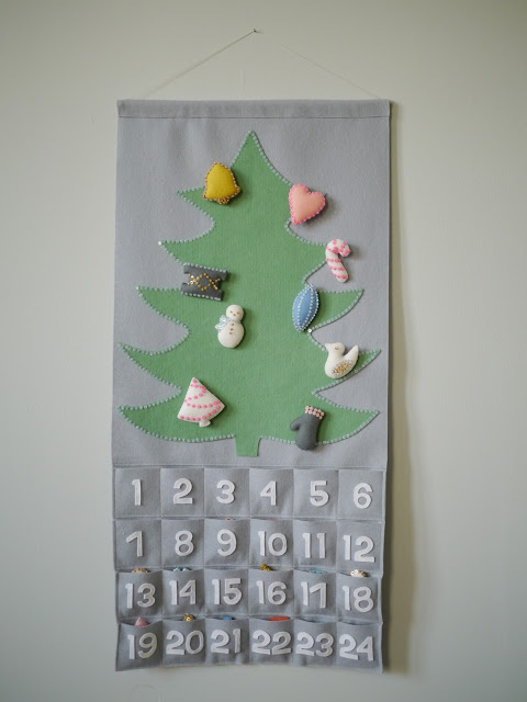 felt and sequin tree advent calendar