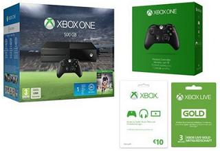bundle xbox one 500gb fifa 16 2 controller xbox. Black Bedroom Furniture Sets. Home Design Ideas