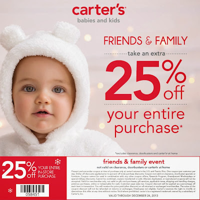 Carter's Friends and Family Coupon Exp 12/31 #MC #Sponsored #CartersFam