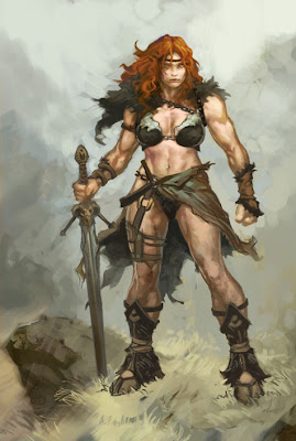 diii-female-barbarian heavy metal warriors