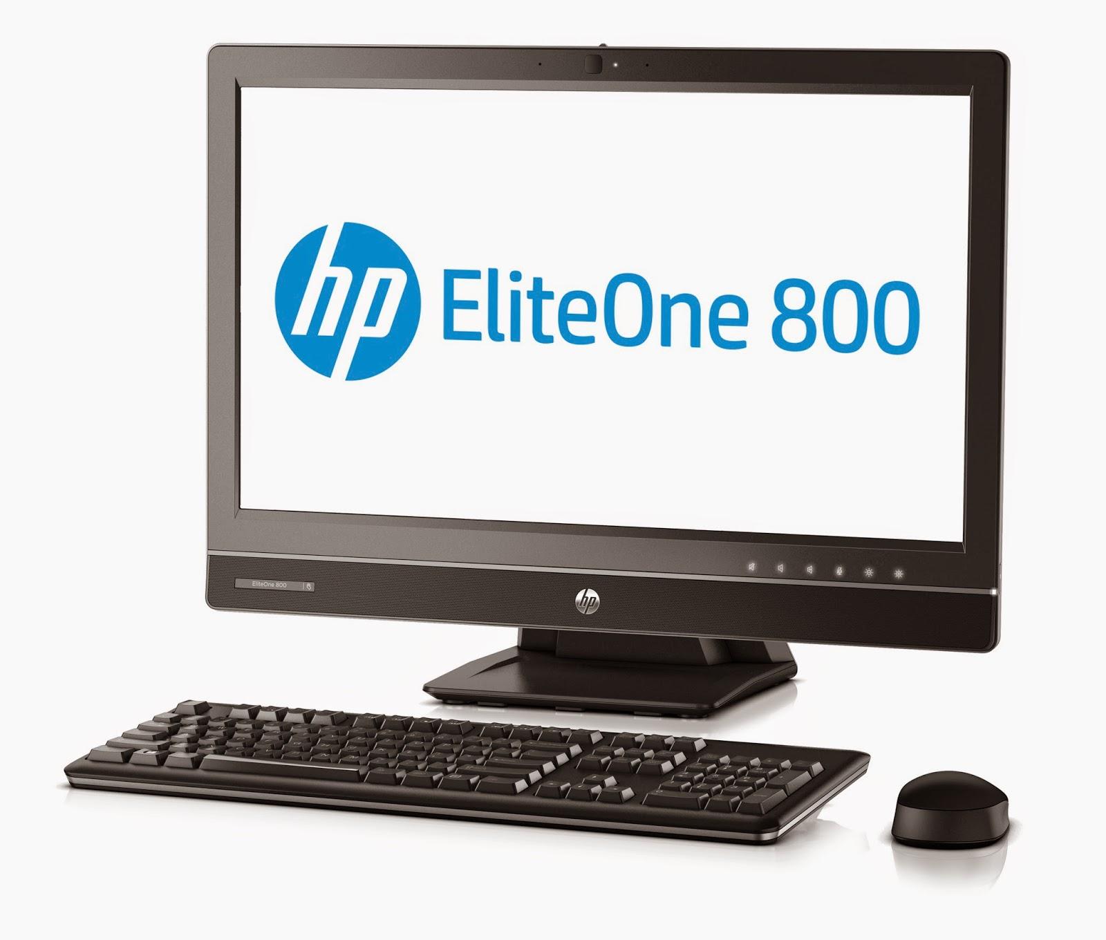 HP EliteOne 800 на белом фоне