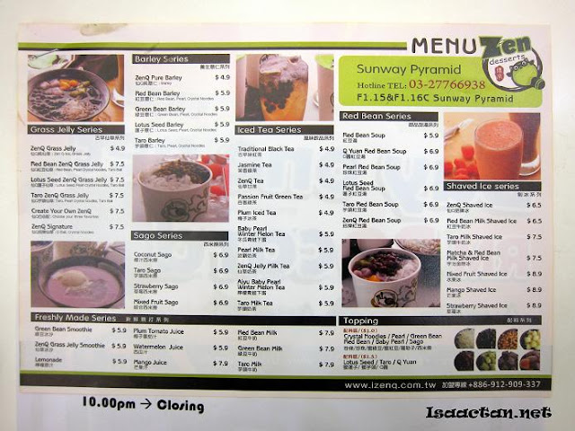 ZenQ Desserts Sunway Pyramid
