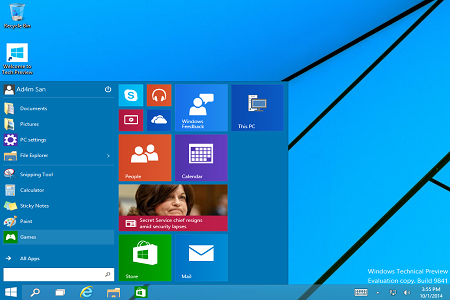 Windows 10 Enterprise Technical Preview 32 Bit & 64 Bit