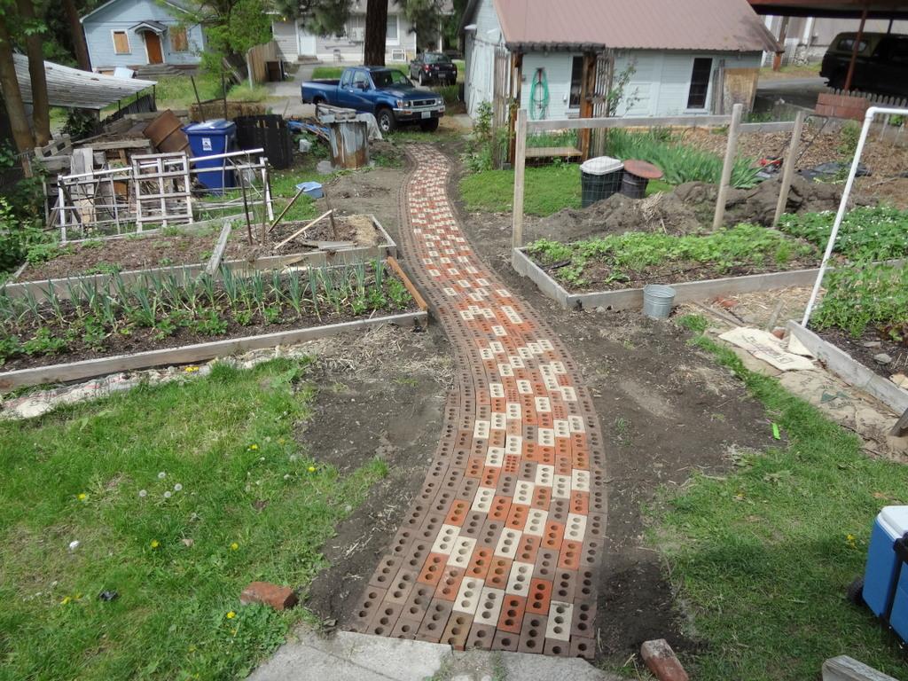 Kitchen Garden Brick Pathway