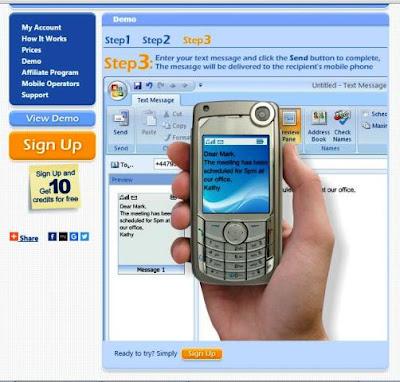 Kirim SMS dari Komputer ke Ponsel via Outlook 2007