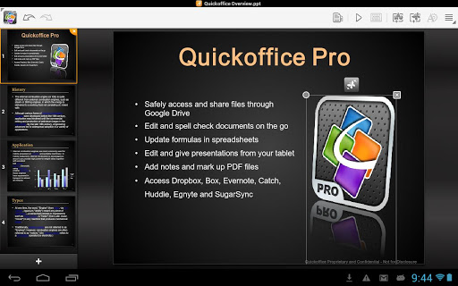 Download Quickoffice 6.2.5.310b APK 131106