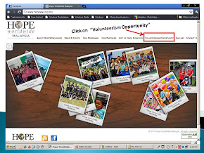"Log on to www.hopeww.org.my and sign up to be our ""Friends of HOPE"""