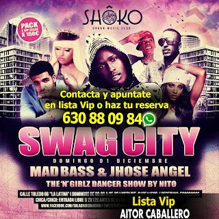 Listas Shoko Swag City Domingo 1 de Diciembre