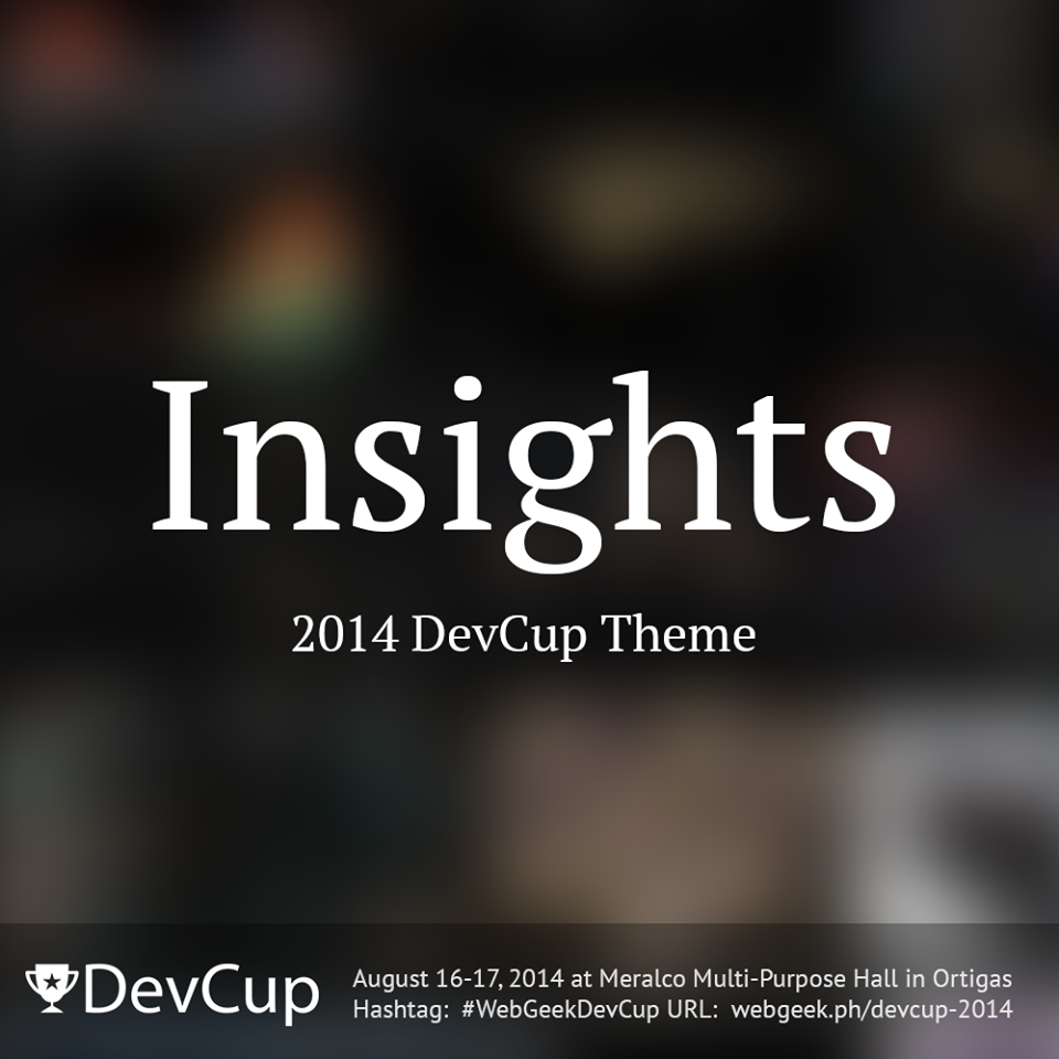 Insights is DevCup 2014's Official Theme
