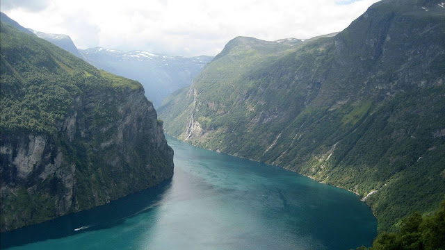 Fjord at Mt. Molden in Norway