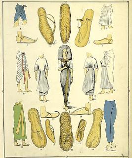 Calzado e indumentaria en el Egipto faraónico