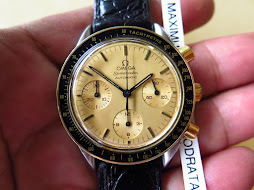 OMEGA SPEEDMASTER CHRONOGRAPH - GOLD DIAL - TWO TONE - AUTOMATIC