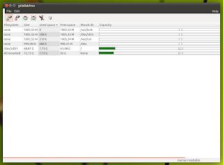 GtkDiskFree Ubuntu Linux