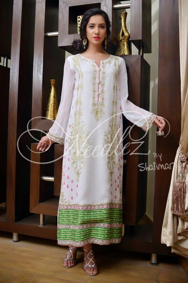 Needlez long chiffon dresses 2015