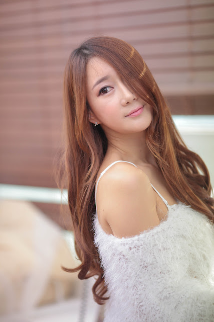 3 Han Chae Yee in White - very cute asian girl - girlcute4u.blogspot.com