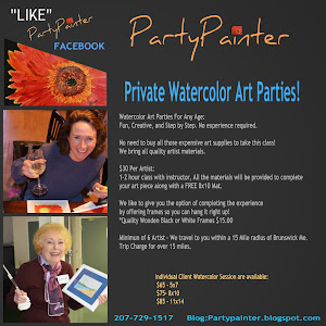 Private Watercolor Art Parties 207-241-0086