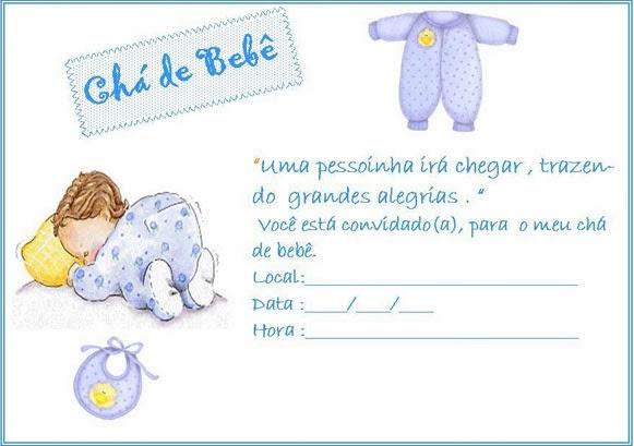 Convites para chá de bebê de menina 1
