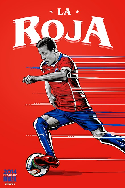 Poster keren world cup 2014 - Chile