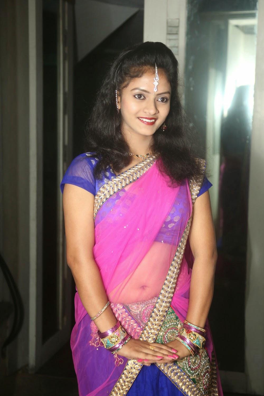 Young actress Jaya Harika in half saree-HQ-Photo-16