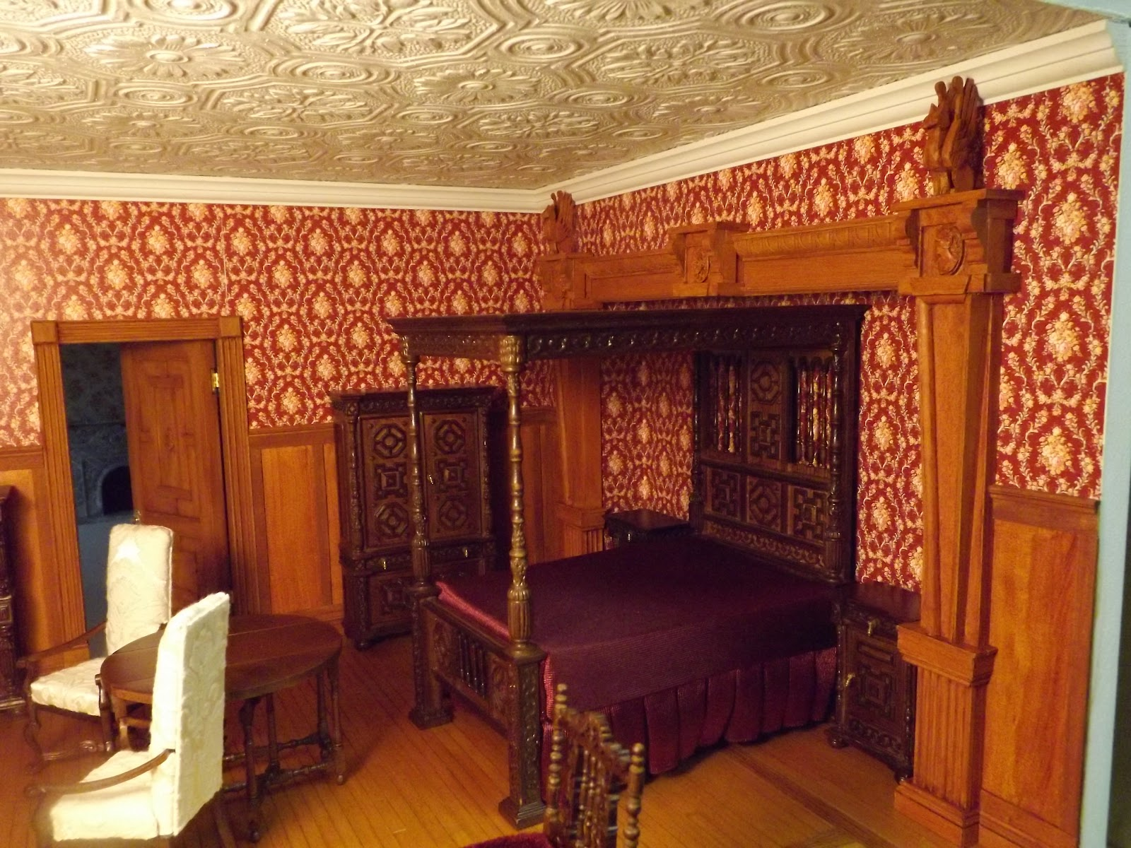 Late victorian english manor dollhouse 1 12 miniature Design your bedroom from scratch