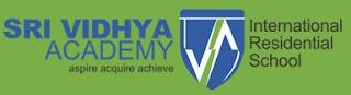 Sri Vidhya Academy International Residential School Logo
