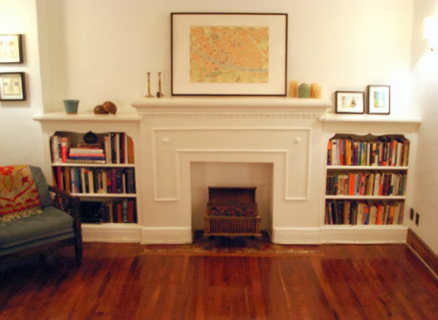 Faux Fireplace with Bookshelf