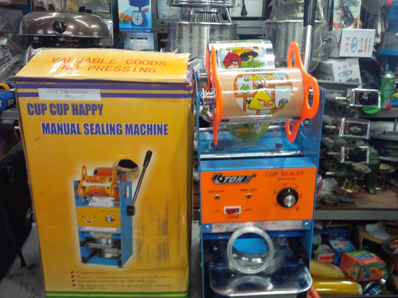 cara pemasangan lid plastik sealer  ke mesin cup sealer