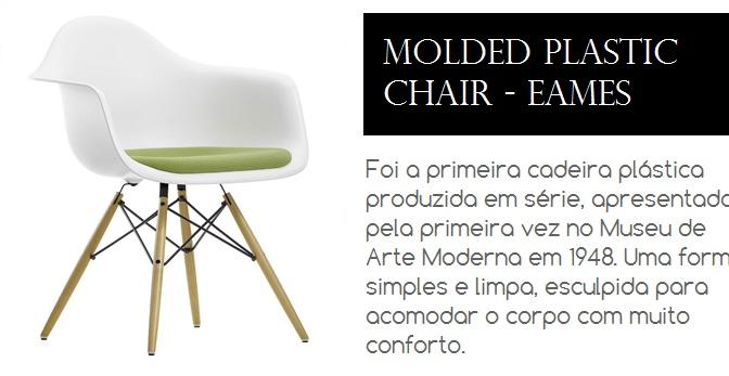 Cadeira Molded Plastic desenhada por Eames