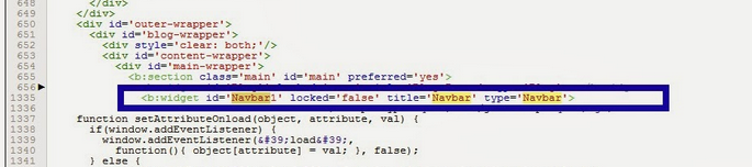 kode widget navbar blog