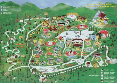 Map Taman Safari Indonesia II di Prigen - Jawa Timur