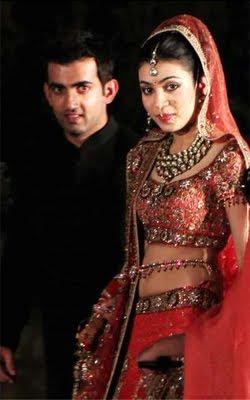 Gautam Gambhir with wife Natasha Photo