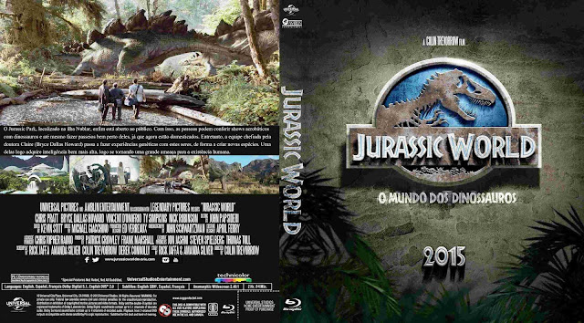 Capa Bluray Jurassic World O Mundo Dos Dinossauros