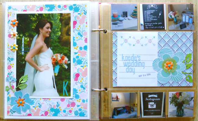 6x8 pocket scrapbook, wedding, Kaede's Wedding Day, instagram photos, 4x6 photo, spring wedding, Project Life