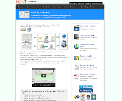 NeXT Software novo site agosto-2011