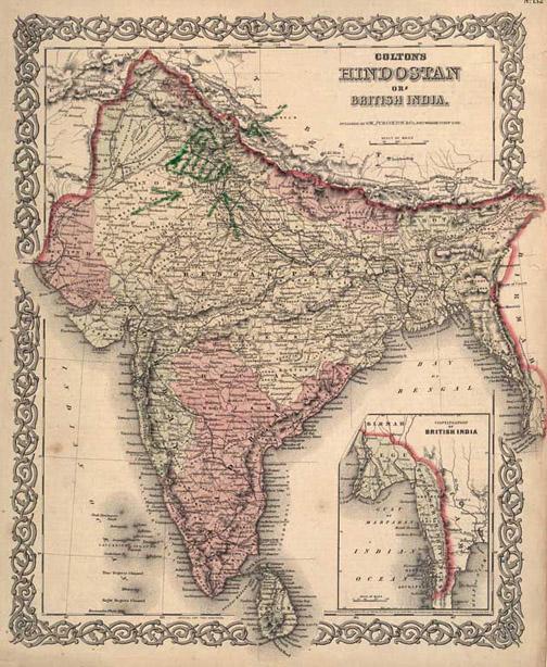 old india map PARIS HILTON ...