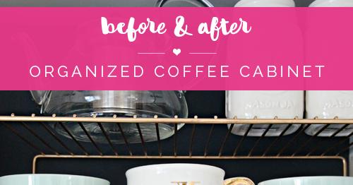 IHeart Organizing: Organized Coffee Cabinet