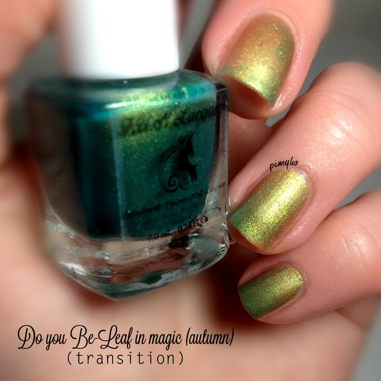 "pimyko swatch ""Do You Be-Leaf In Magic (autumn)"" 4 seasons collection by Funlacquer"