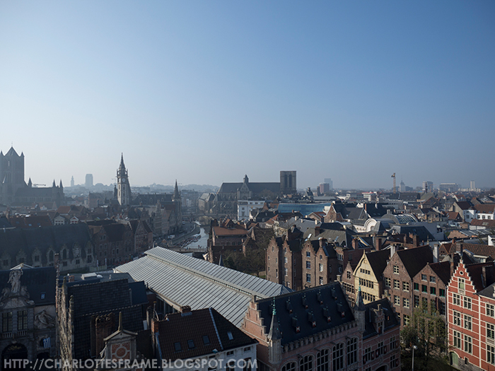 view from gravensteen, view from castle of the counts, uitzicht vanuit gravensteen,