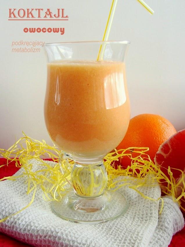 Koktajl owocowy ( podkręcający metabolizm )
